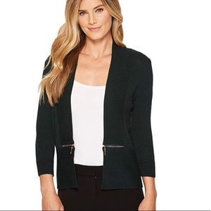 Ivanka Trump | Black Open Fly a Way Cardigan Zip M